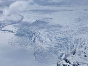 Photo of a calving glacier in Greenland