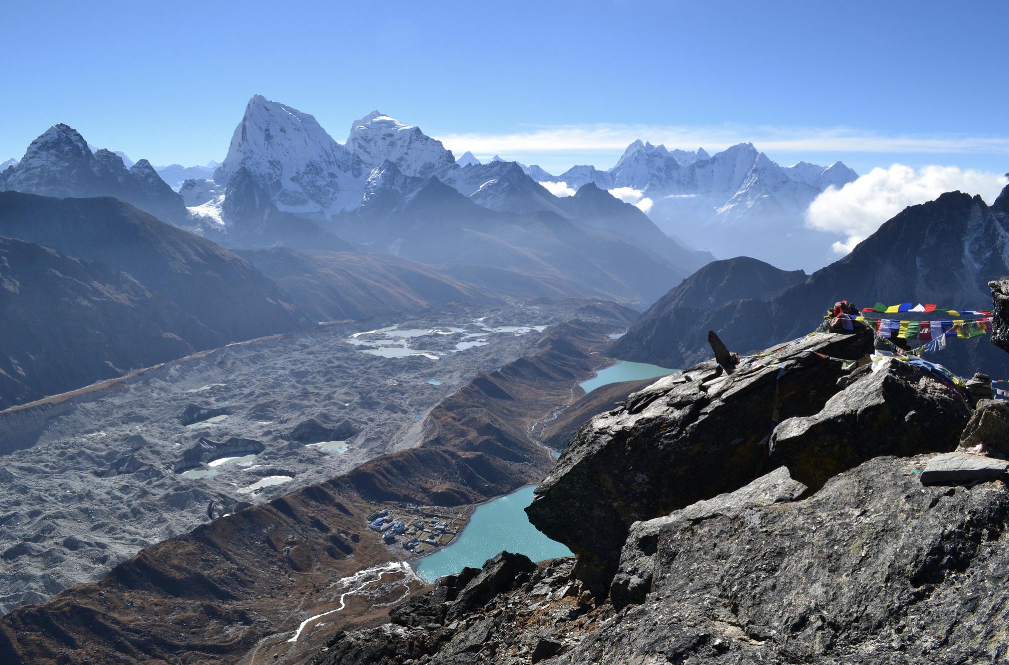 Photo of the Ngozumpa Glacier in Nepal.