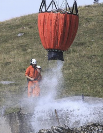 Close up photo of airlift water delivery