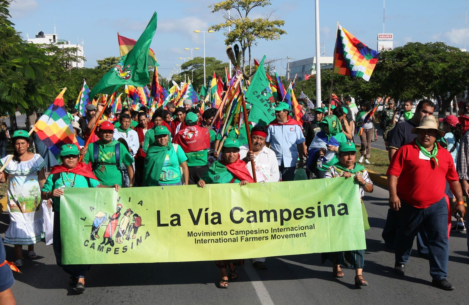 Peasant demonstration of the organization La Via Campesina