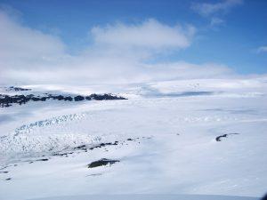 Myrdalsjokull glacier above Katla volcano on GlacierHub