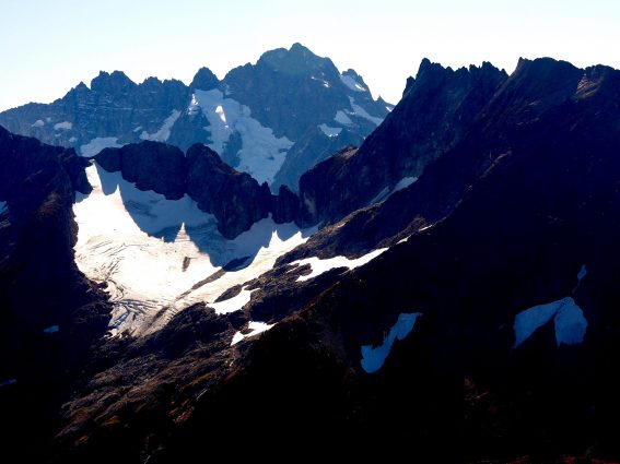 Cache Col Glacier on Mount Formidable, in the North Cascades National Park in Washington State on GlacierHub