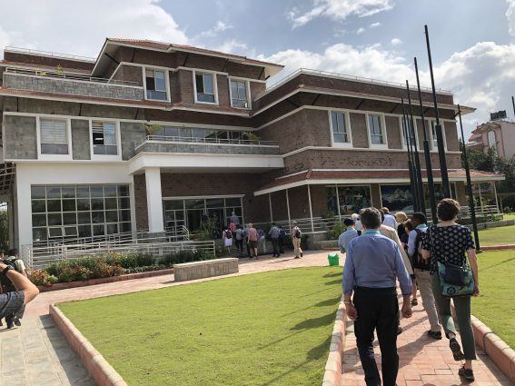 IPCC lead authors and staff arrriving at ICIMOD headquarters