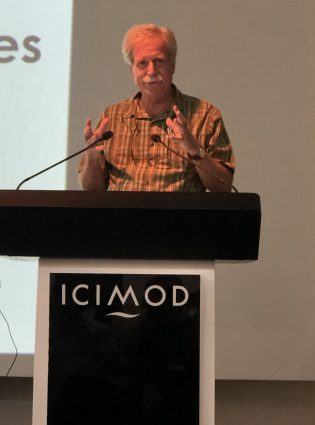 ICIMOD Director General David Molden addressing IPCC authors and staff